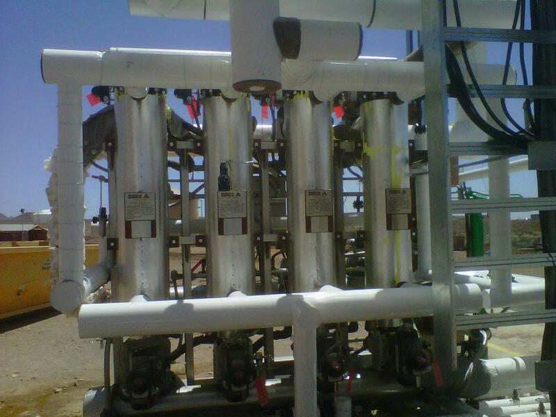 Molten Sulphur Tube Filter Installation